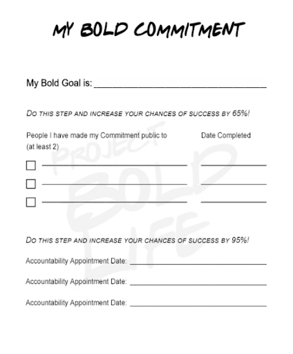 Your Bold Commitment Plan